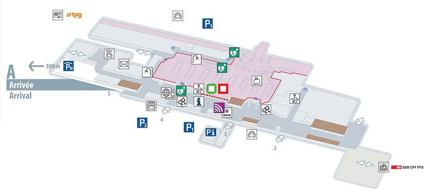 Plan de l'aéroport de Genève