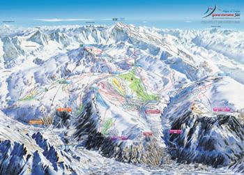 Plan des pistes station Alpe d'Huez