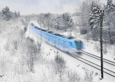 train hiver