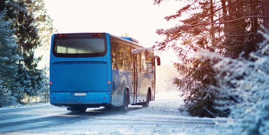 Bus station de ski