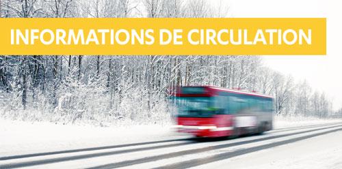 Alerte météo : conditions de circulation perturbées du 29 au 31 janvier 2021