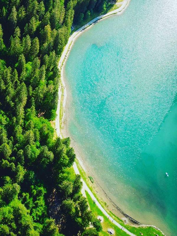 rando montagne lac montriond morzine